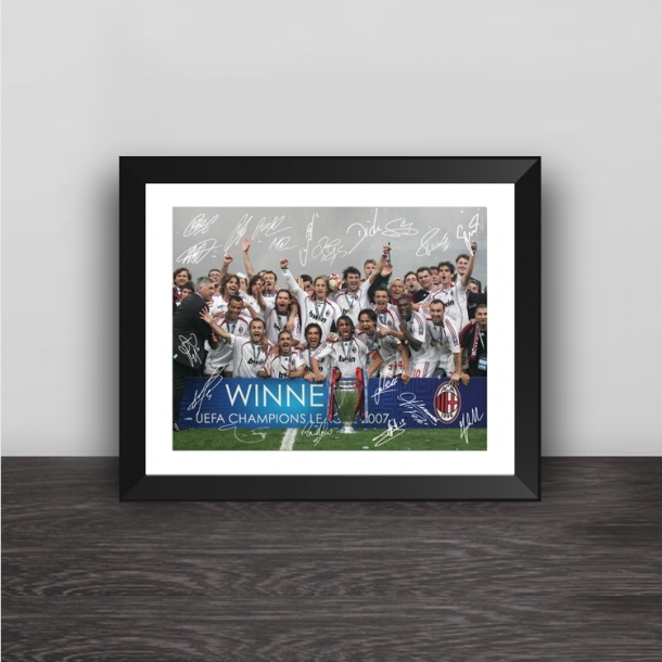 AC Milan 2007 Champions League champion team signature solid wood decorative photo frame photo wall