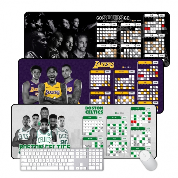 Warrior Knight Rocket Spurs Lakers Celtics Race King size mouse pad