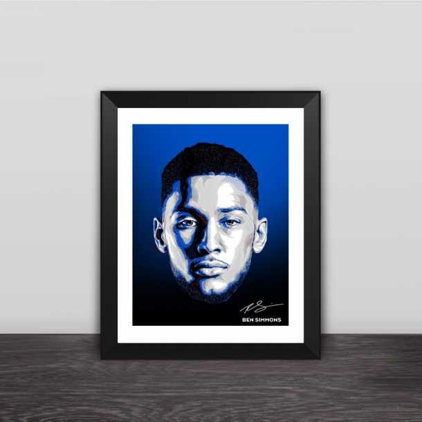 Ben Simmons avatar illustration solid wood decorative photo frame