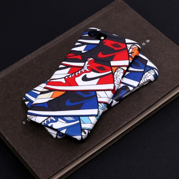 Personality street card Jordan AJ Joe 1 sneakers with color models phone case