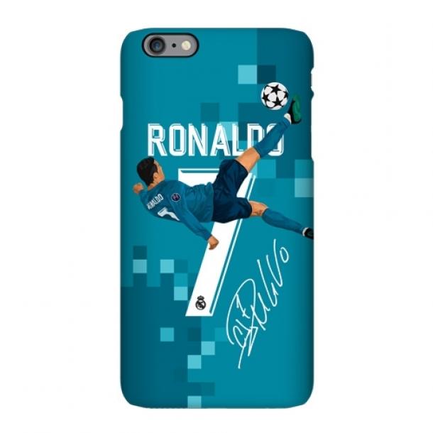 Real Madrid C Luo inverted hook illustration matte phone case