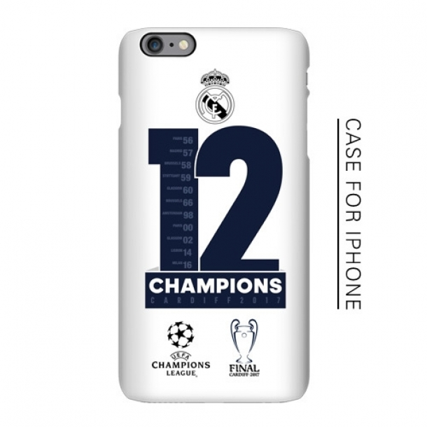 Real Madrid Champions League 12 crown memorial matte phone case