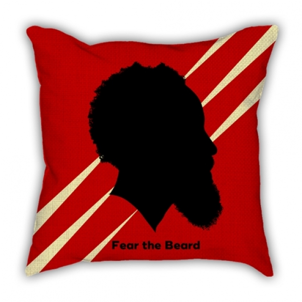 James Harden silhouette head portrait pillow sofa cotton and linen texture car pillow cushion gift