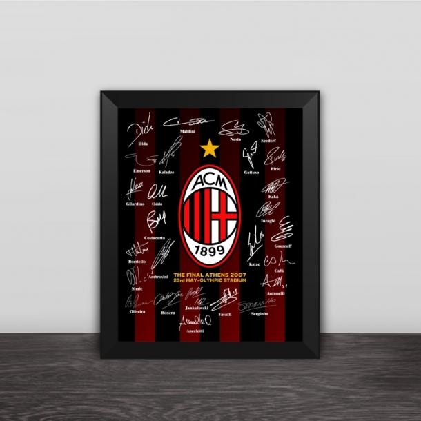 AC Milan 2007 Champions League Family Portrait Wood Decoration Photo Frame