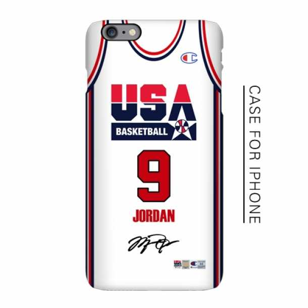 1992 American men's basketball dream white jersey matte phone case