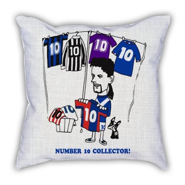 Robert Baggio drying jersey cartoon pillow sofa cotton and linen texture car pillow cushion
