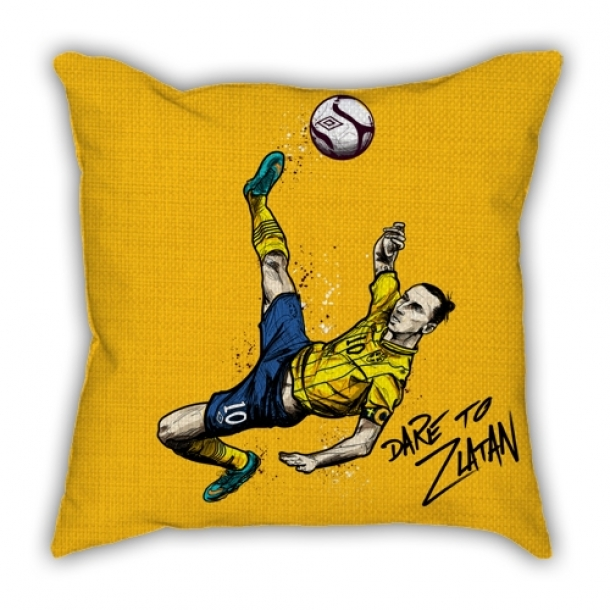 Ibrahimovic classic inverted hook cartoon pillow sofa cotton and linen texture car pillow