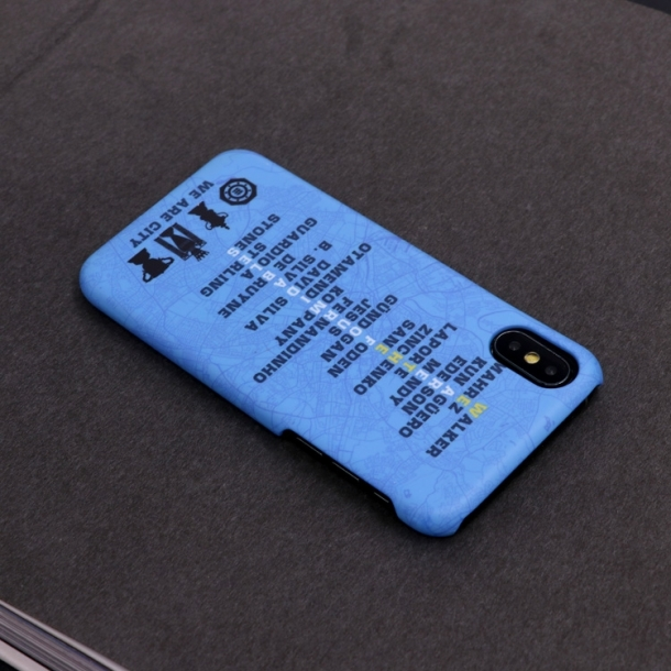 Manchester City Four Crowns Memorial Scrub Mobile Phone Case