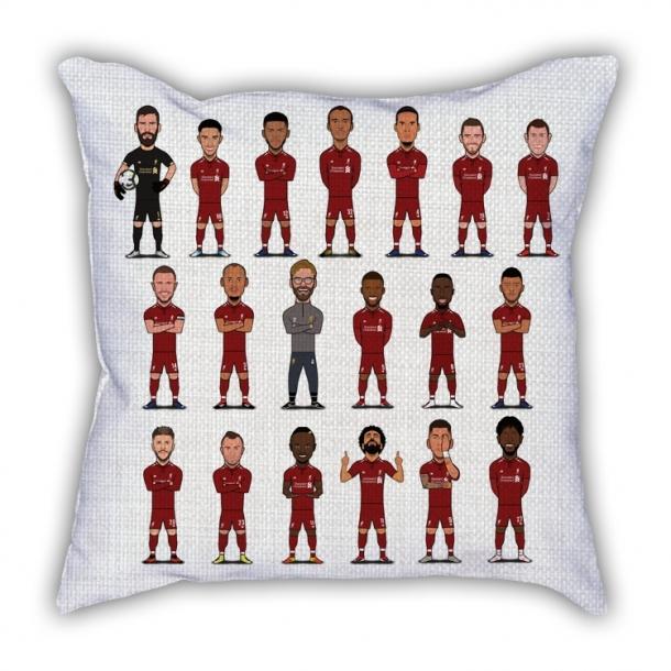 Liverpool team cartoon pillow sofa cotton and linen texture car pillow
