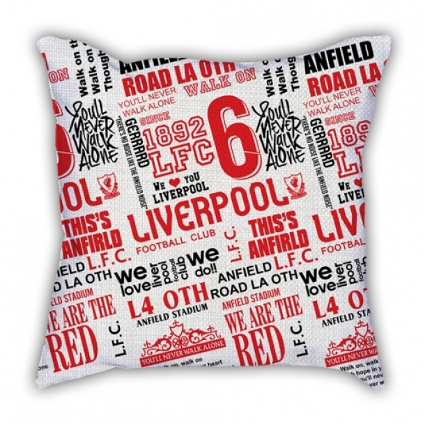Liverpool theme commemorative pillow sofa cotton and linen texture car pillow