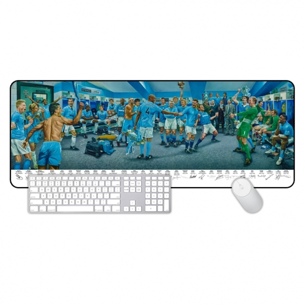 Manchester City famous oil painting art models large mouse pad learning office keyboard table mat