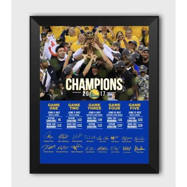 Warriors win team signature photo frame Curry lore Thompson Durant Warriors fans gift