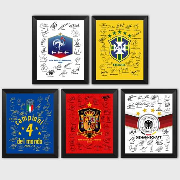 Brazil France, Italy and Germany World Cup in Spain champion Argentina signature photo frame gift fans
