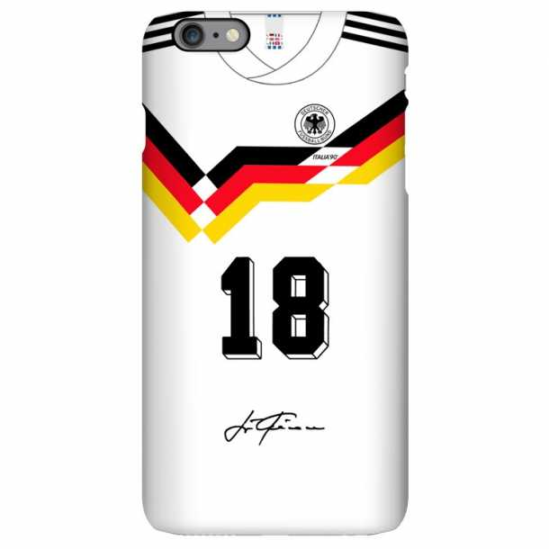 1990 German team retro jersey iphone case Klinsmann Mateus