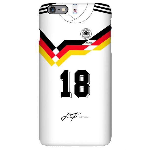 1990 German team retro jersey iphone case Klinsmann Mateus