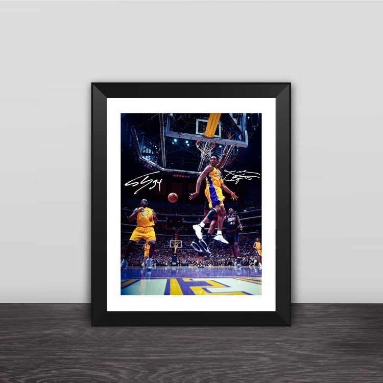 Real Madrid Zidane back view illustration solid wood decorative photo frame photo wall table hanging frame