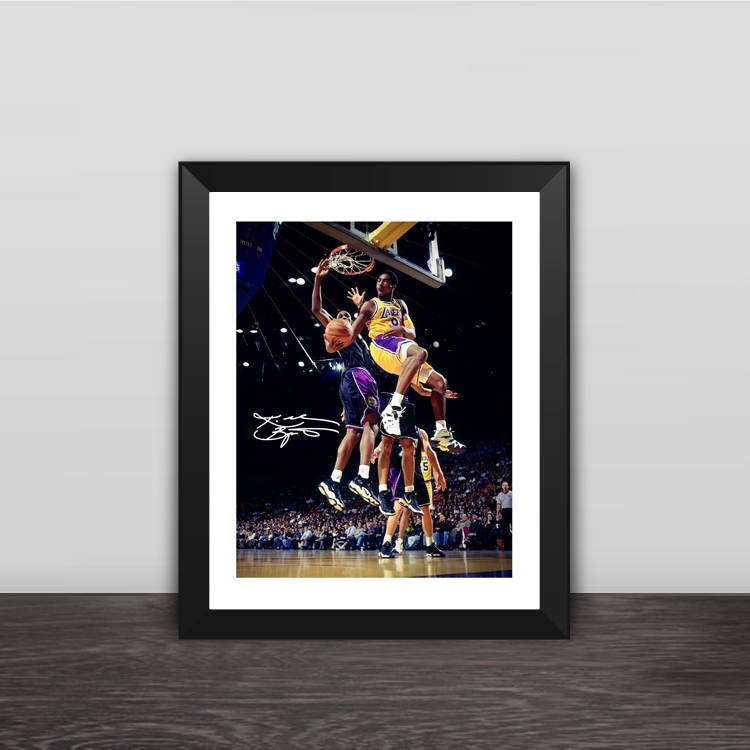 Kobe Bryant 81 points commemorative models solid wood decorative photo frame photo wall table hanging frame