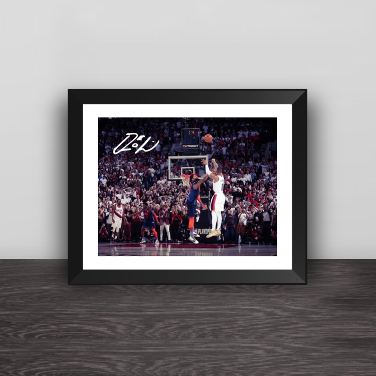 Warriors win the team signature photo frame Curry lore Thompson Durant Warriors fans gift