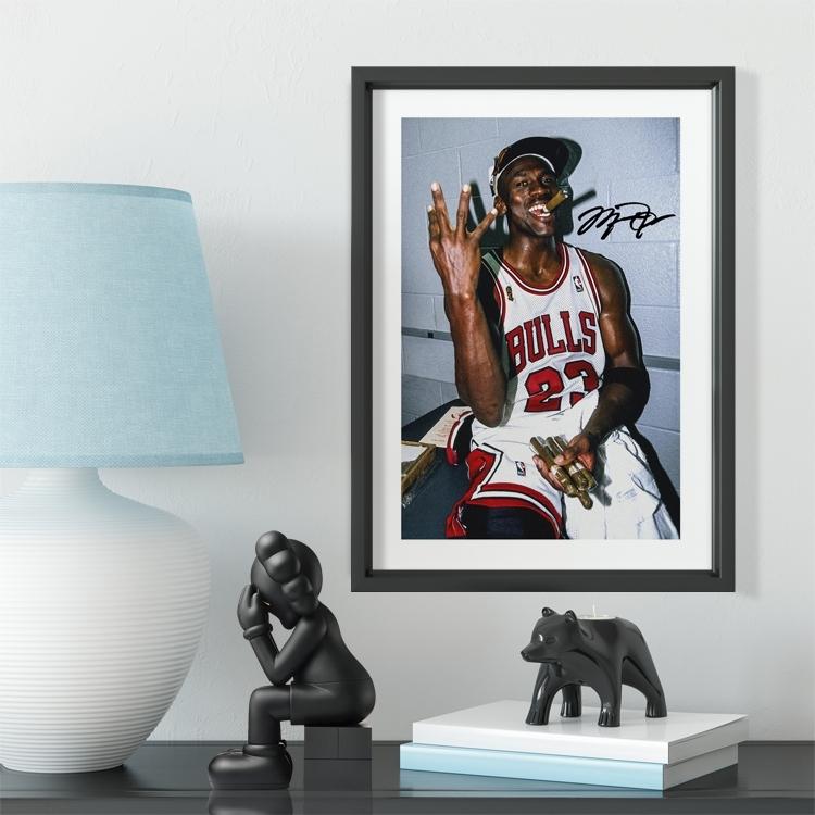 C Rom Messi Buffn Nemar Illustrator Art Solid Wood Decorative Football Photo Frame Photo Wall Football Fan Gift