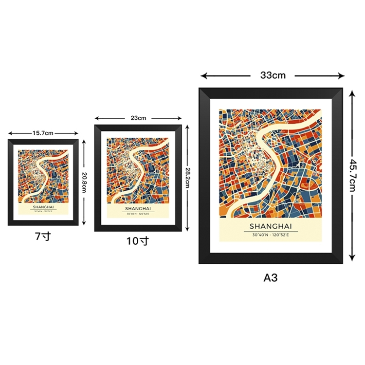 Juve C Luo illustration solid wood decorative photo frame photo wall table hanging frame