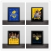 2018 Warriors Champion Team Signature Commemorative Decoration Picture Frame Photo Wall Table Decoration Hanging Frame Curry