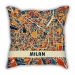 AC Milan theme models pillow sofa cotton and linen texture car pillow cushion gift double-sided printing bar decoration