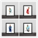 C Romesib von Neymar Illustrator Art Solid Wood Decorative Football Photo Frame Photo Wall Football Fan Gift