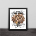 Lakers Warriors Knight Spurs Champion Cartoon Series Solid Wood Decorative Photo Frames Photo Wall Table Pens Fan Gifts