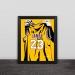Lakers James hanging jersey art illustration solid wood decorative photo frame photo wall table pendulum art gift hanging frame