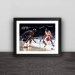 Allen Iverson classic back view solid wood decorative photo frame photo wall