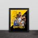 Warriors 73 wins team signature replica solid wood photo frame frame
