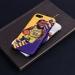 Lakers Lebron James cartoon illustration matte fans phone case