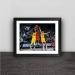 James Harden Beard Art Illustration Wood Decorative Photo Frame Photo Wall