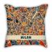 AC Milan theme pillow sofa cotton and linen car pillow