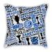 Inter Milan slogan pillow sofa cotton and linen texture car pillow cushion gift
