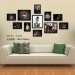 Beckham career photo wall photo frame solid wood bar decoration