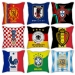Football World Cup sofa cotton and linen texture pillow car pillow