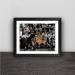 Kobe career last cast wood decorative photo frame photo wall table pendulum art hanging frame