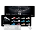 LeBron James career sneakers models large mouse pad Office keyboard pad table mats JAMES