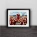 Legendary Totti retired solid wood decorative photo frame photo wall table pendulum
