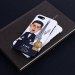 C Ronaldo Golden Award Cartoon Scrub phone case