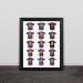 Barcelona Grand Slam trophy wood decorative photo frame photo wall