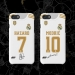 19-20 years Real Madrid home jerseys iphone7 8 XSMAX XR 6s plus cases