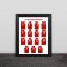 Raptors championship team jersey illustration solid wood decorative photo frame photo wall table hanging frame