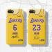 James Davis Los Angeles Lakers Vintage Yellow Phone Case