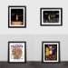 Kobe retired signature photo frame Los Angeles Lakers Kobe series fans gift table swing basketball photo wall