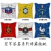 World Cup champion pillow sofa cotton and linen car pillow cushion bar France Italy Brazil Germany Spain